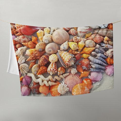 Throw Blanket - SWFL Shell Pile Scotch Bonnet