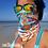 Thumbnail: NeckGaiter Headband - Seashells of SWFL - Blue