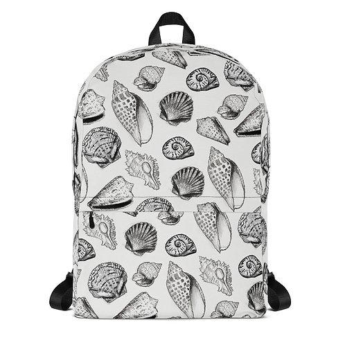 Backpack - OPM Art - Hand Drawn Seashells of SWFL