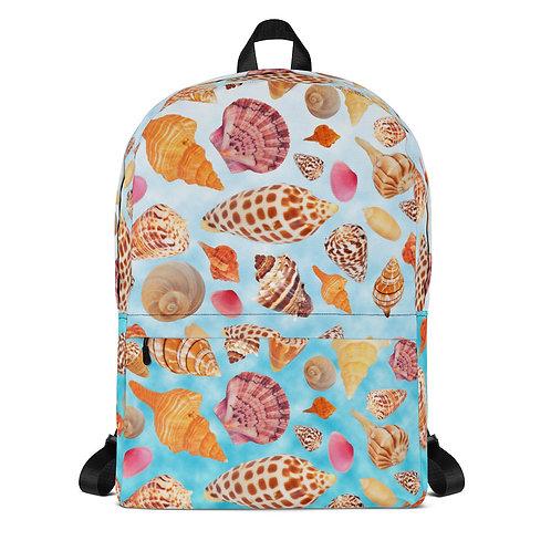 Backpack - Seashells of SWFL - Blue