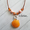 Thumbnail: Orange Flower Dream Double Scallop Shell Necklace on Leather