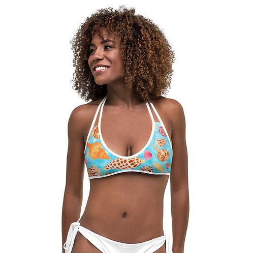 Bikini Top - Seashells of SWFL - Blue