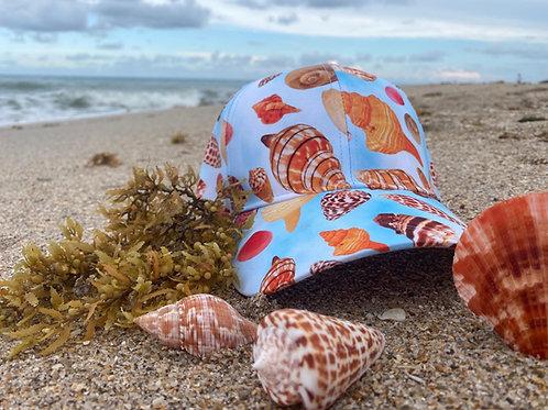 Baseball Cap - Seashells of SWFL - Blue