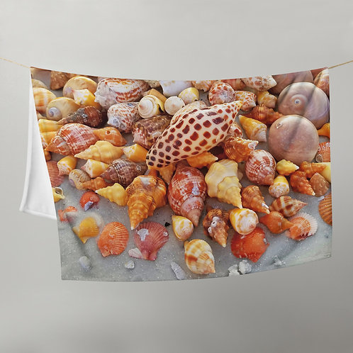 Throw Blanket - SWFL Shell Pile Junonia Horse Conch