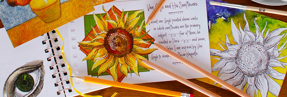 Mindful creativity encouraged with a one-of-a-kind art journal and Earth-friendly premium materials