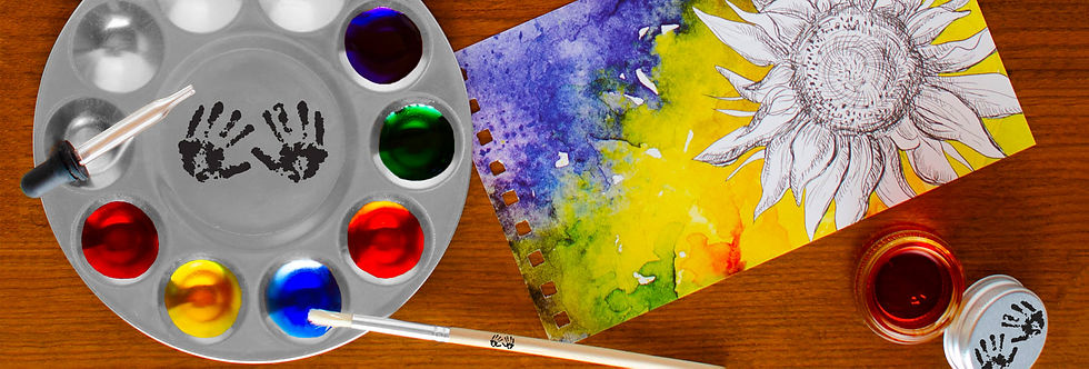 Use watercolor paints and painting to tap into creativity with art