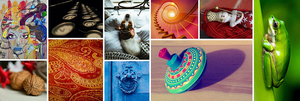 Artsy inspiration collage of colorful, unique images