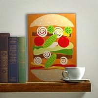 Paper Cutouts & Cartoons Matisse inspired sandwich masterpiece