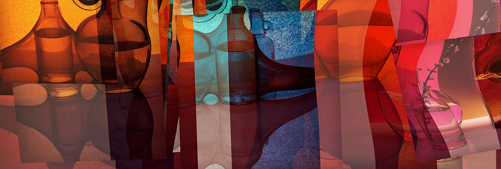 Colorful abstract bottle images to inspire creativity.