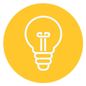icon of light bulb within yellow circle links to foster imagination with kaboodle