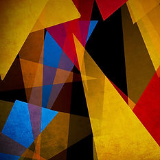Multicolored geometric shapes to inspire creativity