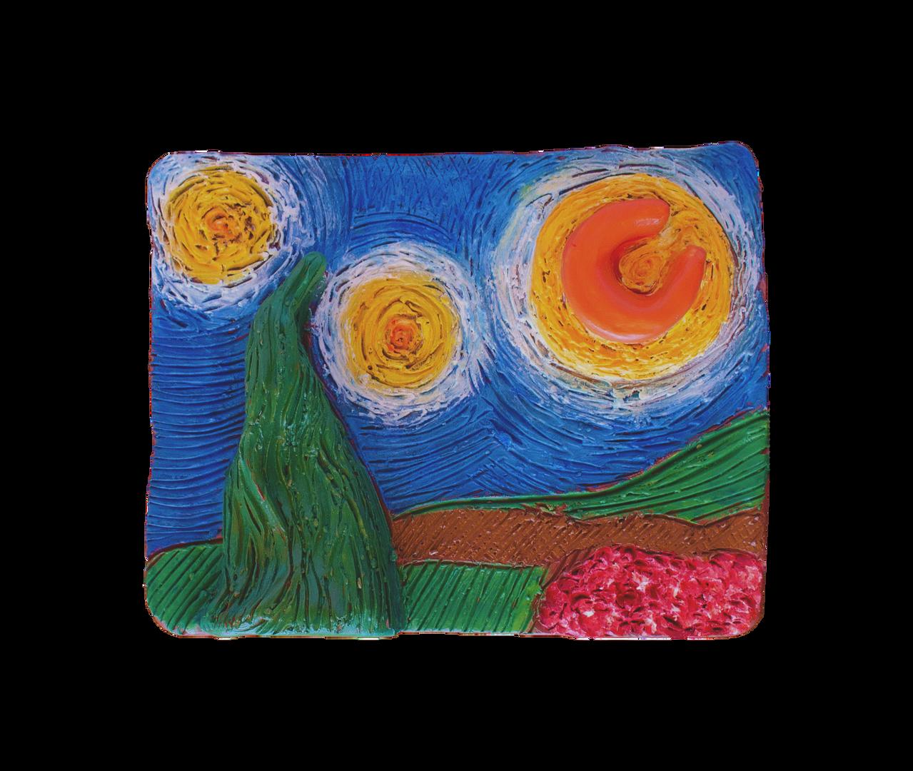 Van Gogh Inspired Landscape Masterpiece