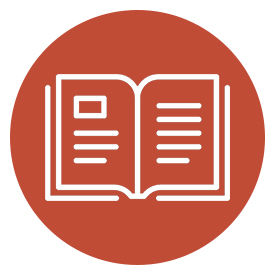 icon of book within red circle links to encourage curiosity with art kits 'n' kaboodles