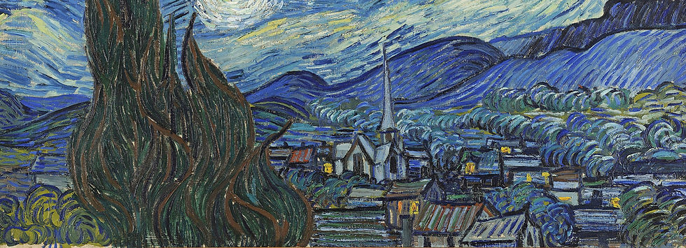 the village within Starry Night by van Gogh