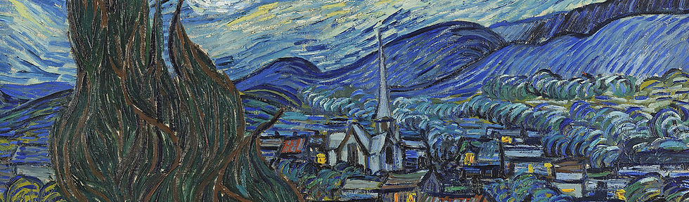 The village within The Starry Night by van Gogh inspires an art experience that started Art Adventure Box