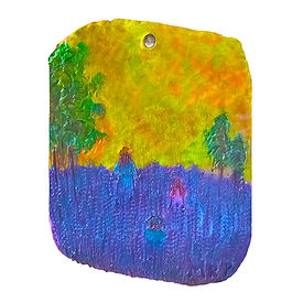 Clay landscape plaquette created with Clay & Impasto à la Van Gogh Mind 'n' Muse Art Box