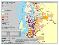King County - Distribution of Transit Stops 2010