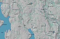Lake Washington School District - Water Lines and Hillshade