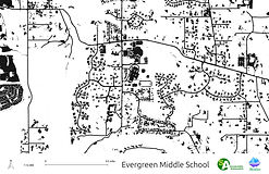 Evergreen Middle School - Impervious