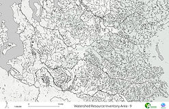 Green Duwamish Watershed - Streams, Rivers and Lakes (Blackline)