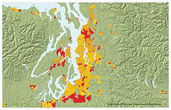 Puget Sound Cities with Urban Growth Boundaries