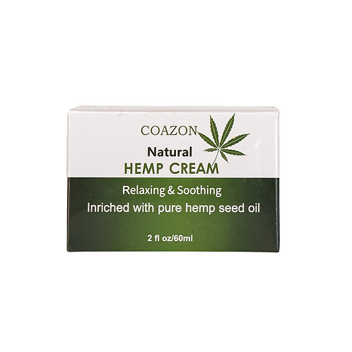 Coazon natural hemp cream relaxing and soothing enriched with pure hemp seed oil