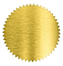 gold metal foil sticker seal isolated wi