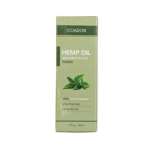 Coazon Hemp Oil Spearmint Flavor pure and natural