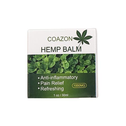 Coazon hemp balm anti inflammatory pain relief refreshing 1000mg
