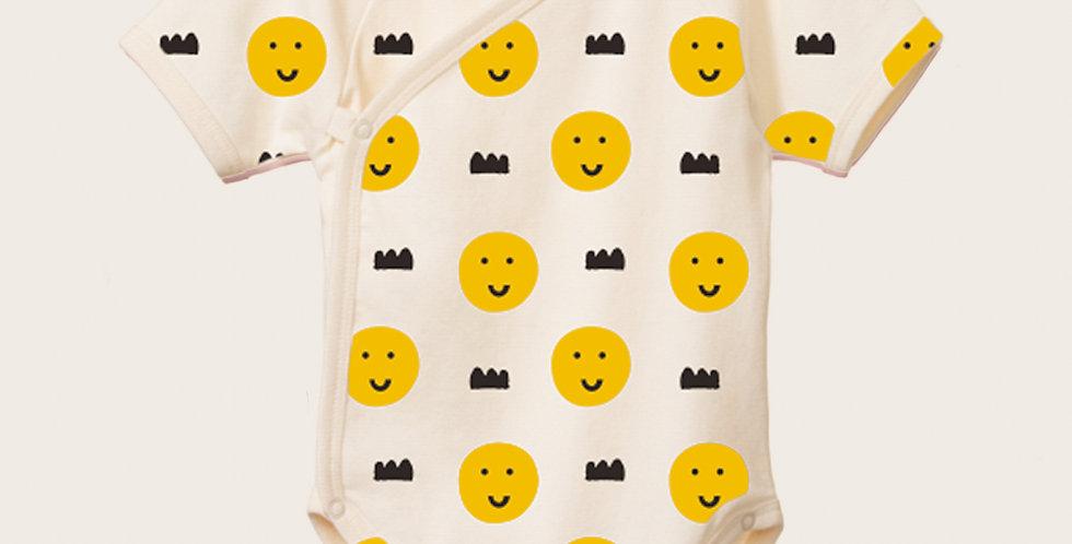 Happy faces kimono onesie
