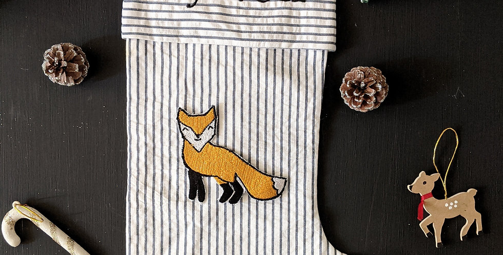 Personalised  Stocking- Fox