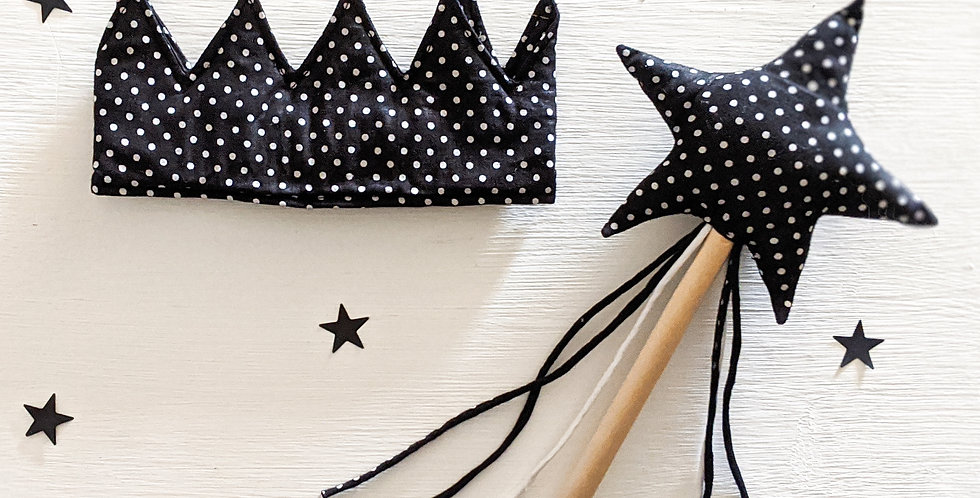 The Charcoal Crown & Wand Set