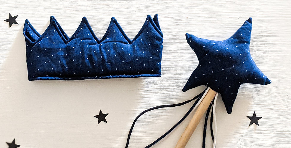 The Blue Crown & Wand Set