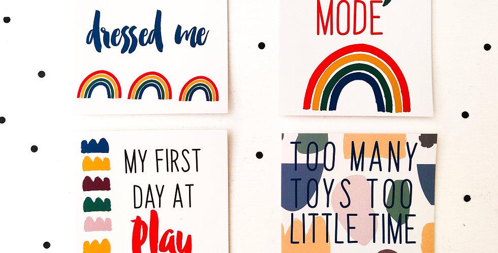 Toddler Milestone Cards