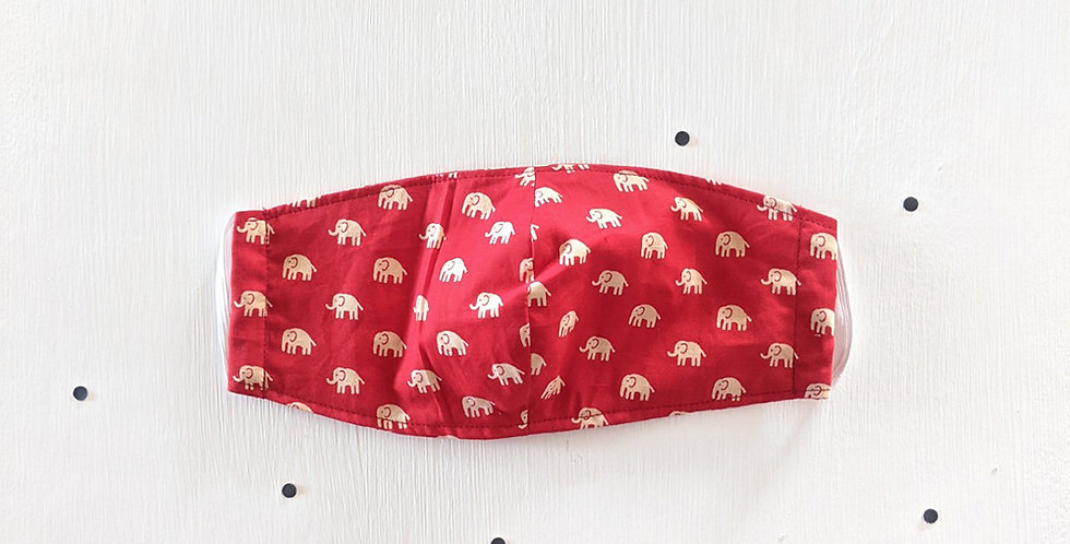 Red Elephants Mask