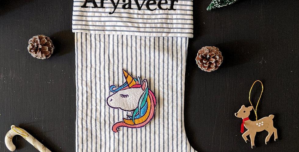 Personalised  Stocking- Unicorn