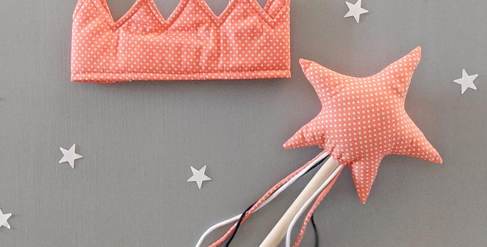 The Peach Crown & Wand set