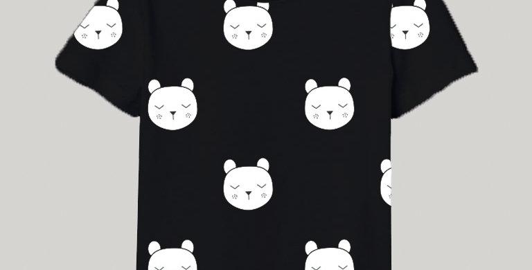BABBLES BEAR T-SHIRT (BLACK)