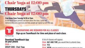 Free Chair Yoga/Chair Cardio 10/28-12/16