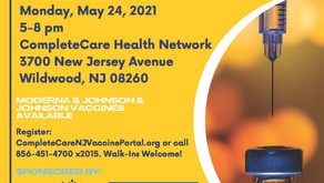 FREE Covid-19 Vaccine Clinic Monday, May 24 from 5pm-8pm