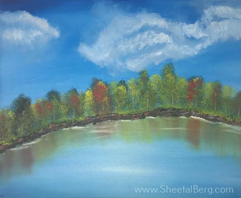 Fall trees on a lake