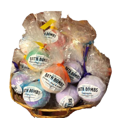 Bath Bombs................................... $5.99 retail / $3.30 cost