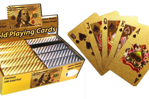 Certified Gold Playing Cards..... $5.99 retail / $3.30 cost
