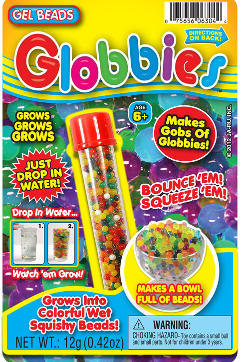 Globbies.....................................  $2.99 retail / $1.65 cost