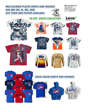 MLB Licensed Shirts