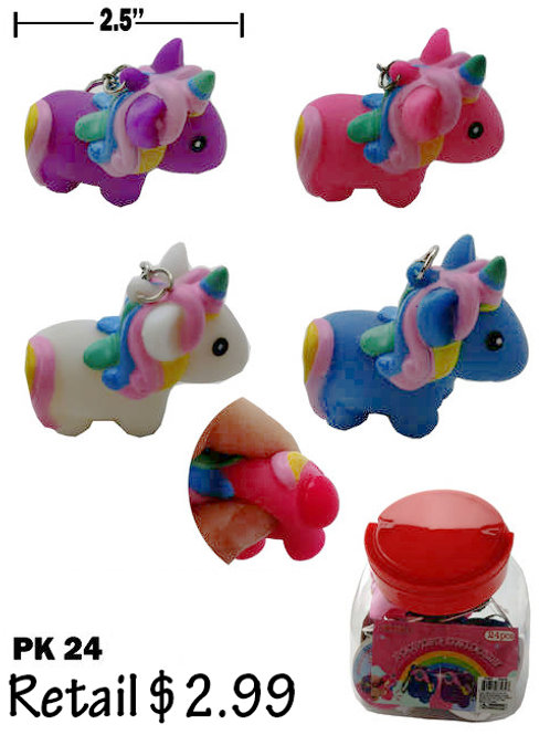 Unicorn Key Chain 24Pk............. $2.99 retail / $1.65 cost ea