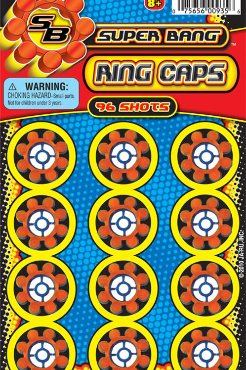 Super Bang Ring Caps..........  $1.99 retail / $1.09 cost