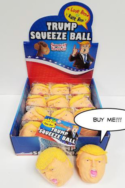 Trump Squeeze Ball.................. $4.99 retail / $2.75  cost