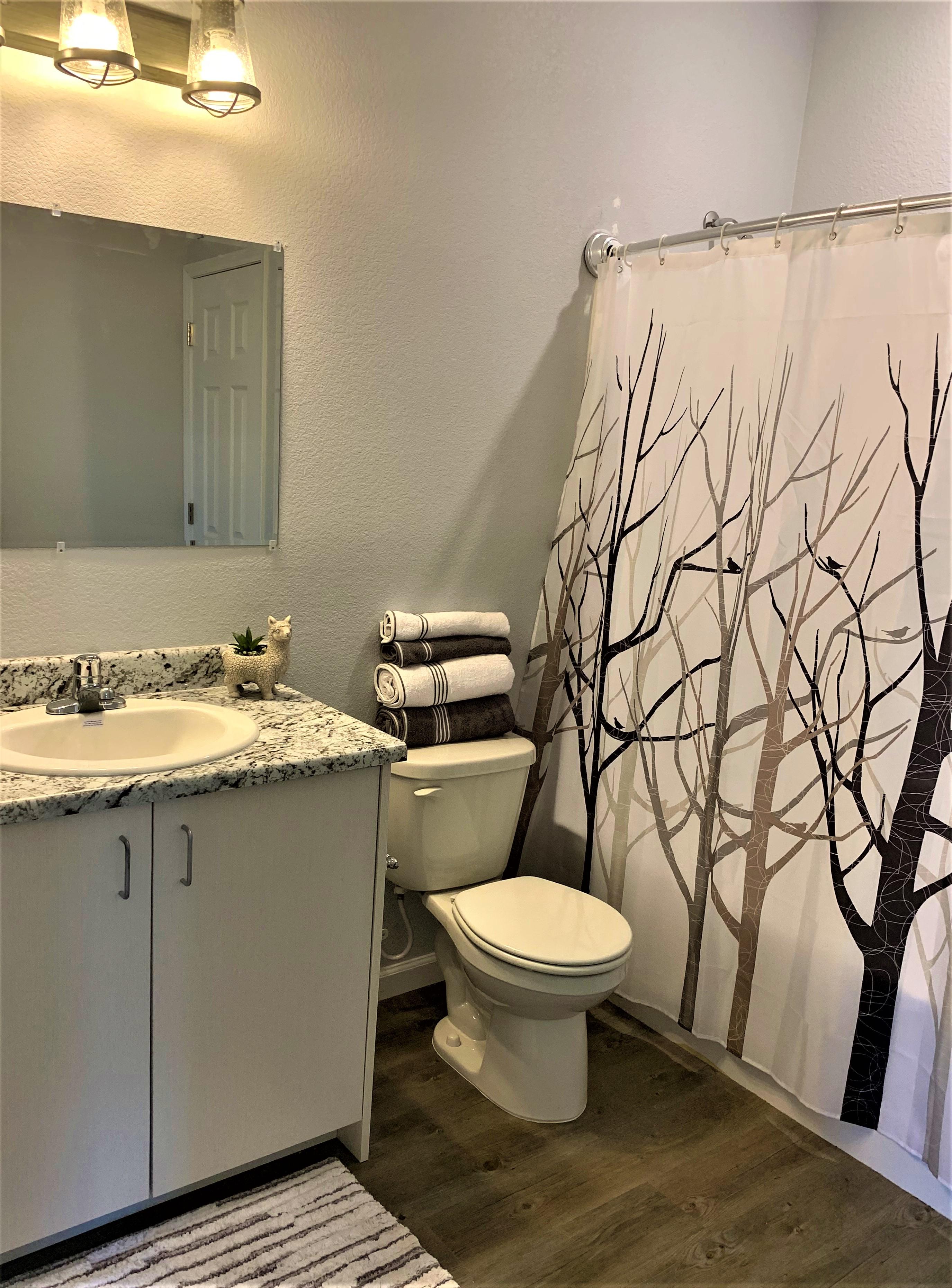 1 BEDROOM - 1 BATH - BATHROOM
