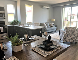 2 BED - 1 BATH KITCH - DINING TO LR